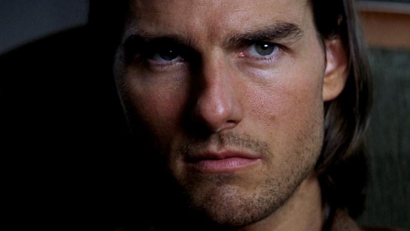 Tom Cruise interpretando a Frank T.J. Mackey en la película Magnolia
