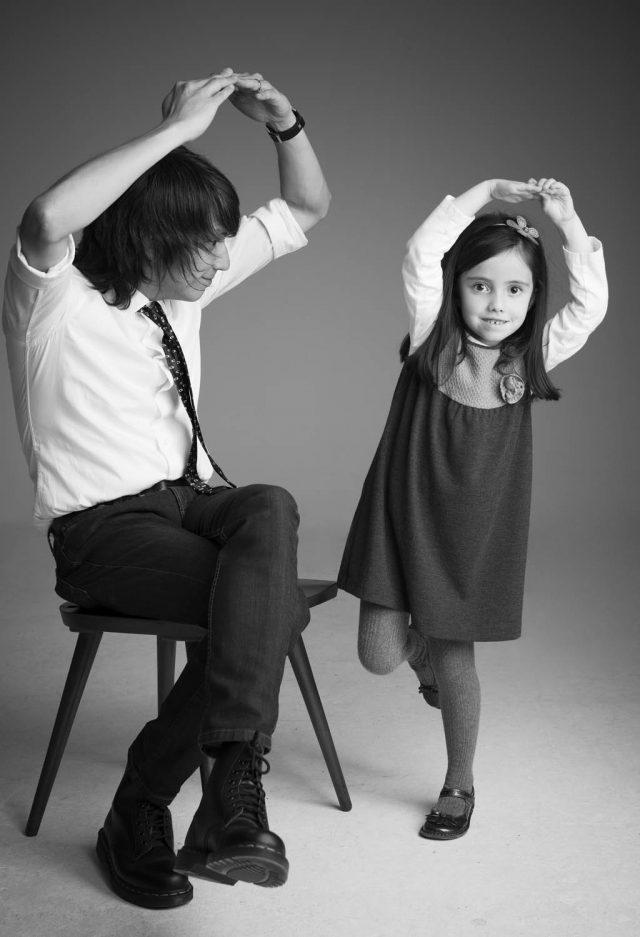 Patxo Escobar y su hija Antonia  Fotografía: Ricardo Pinzón Hidalgo