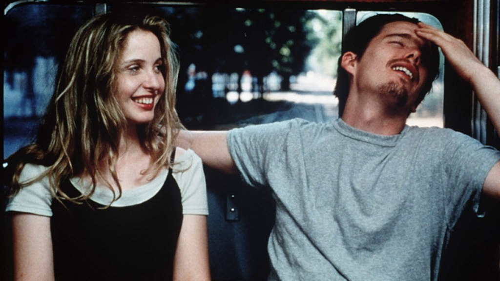 Ethan Hawke y Julie Delpy en Before Sunrise