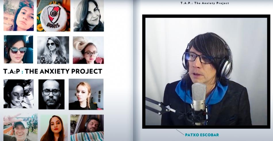 Patxo Escobar en una emisión en vivo de TAP: The Anxiety Project